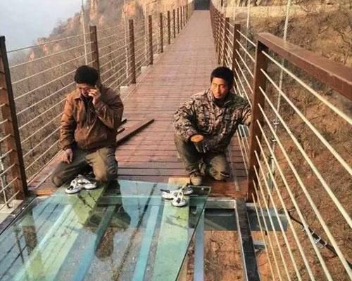 伏羲山混合桥面景观桥案例