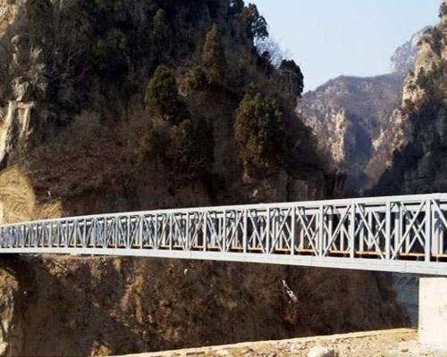 龙翔山钢架桥案例