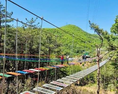 步步惊心吊桥安装施工