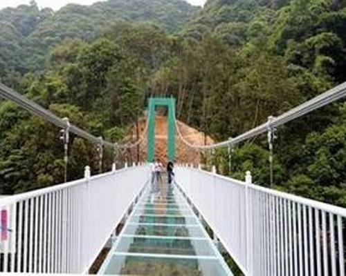 广西玻璃吊桥施工